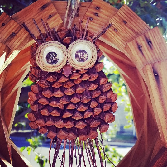 Pine Cone Owl Wall Hanging Pine Cone Crafts For Kids And More